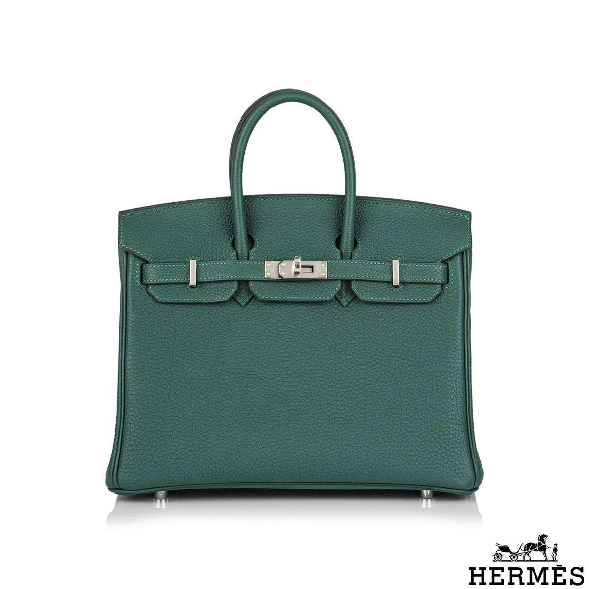 Hermès Malachite Togo Birkin 25cm PHW